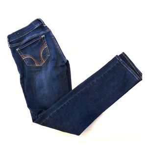 HOLLISTER: Dark, stretchy straight  jeans: size 3S